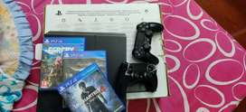 Sony PS4  and 4 exciting games & 2 dual shock controller,