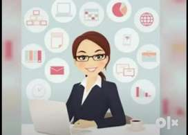 Female Office Assistant and Telecaller