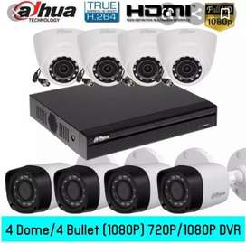 Full HD Night Vision CCTV Security Cameras Complete Setup