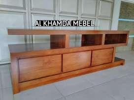 Ready Buvet Tv Minimalis Bahan Kayu Jati Monggo @313