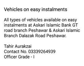 All types of vehicles available on easy instalments