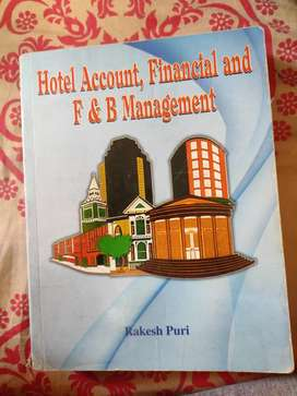 Hotel Management- Hotel Account, Financial and F&B Management