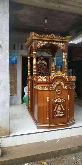 mimbar masjid mushola simple