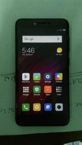Redmi 4 3/32 black good condition mobile