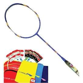raket badminton lining ss9 g5 blue/gold
