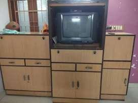 Wardrobe with TV unit.