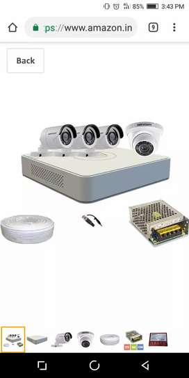 Hikvision 4 Camera with full set(free installation)