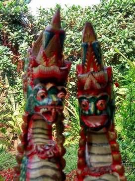 Sepasang patung bali vitage