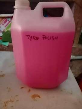 Tyre polish. Dash polish. Foam shampo. Normal shamp