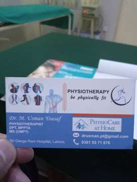 Physiotherapy home sessions in Lahore, treat paralysis,bed ridden care