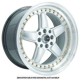 Velg Mobil AMW ZEN R17x7.5/9.0 PCD 8x100/114.3 ET 40 Nissan March/Prot