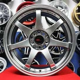 Velg Livina tipe GTR SPORT 994 ring 17 lebar 7,5 warna hyper black