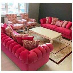 kursi sofa set 3311+1 merah