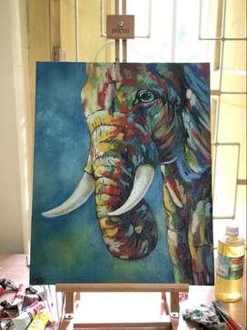 Tusker in oil paint!