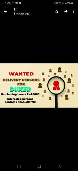 Wanted delivery partners T nagar