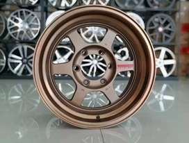 Velg racing Ring16x8.5 h6x139.7 ET0 cocok untuk pajero Everest panther