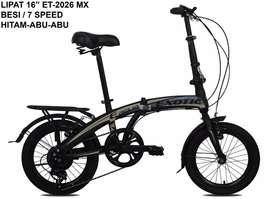 "Sepeda lipat exotic 16"" ET-2026 MX"