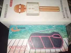 Mic wirless and Bluetooth speak with fm radio pen drive