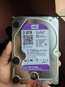Brand New WD Purple 2TB Sata Hard Disk