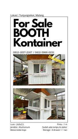 Booth Kontainer Bekas Kedai Murah Malang