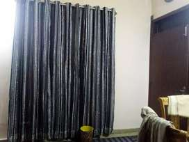 Stripes silver ,black and grey curtain with linning