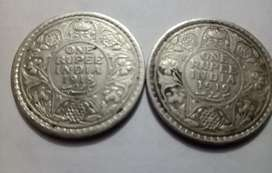 One rupee silver coin of year 1918/1919 available.