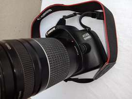Canon 1200D with extra lens 75-300mm ultra zoom lens