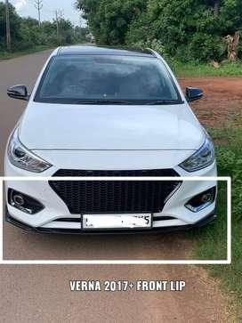 Verna front bumper  lip / splitters