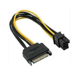 Kabel Power SATA 15 Pin To 6pin PCI-E Vga