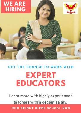 Female teacher required. Full-time / Part-time job. For class till 5.