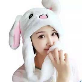 Bunny head topi kelinci