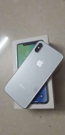 iPhone X 64GB with complete bill box and accessories
