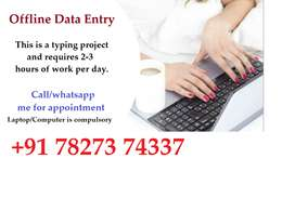 In registered company requirement open for data entry job. typing work