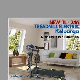 treadmill elektrik TL-246 F-077 electric alat fitnes