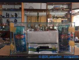 Paket aquarium 60x30x30 baru