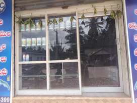Glass door for shop.It was bought before 1yearBargaining  is allowed
