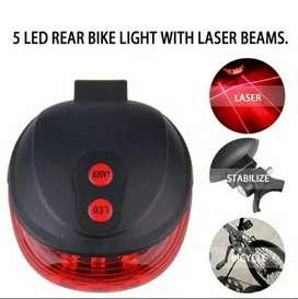 Lampu belakang sepeda LED with Laser