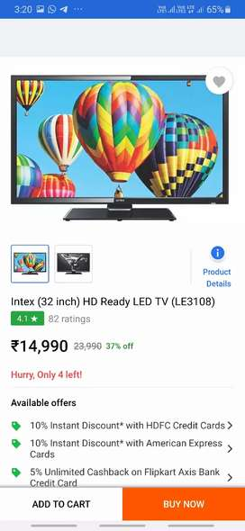 32 inch intex TV is for sell