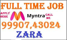 Myntra Company Full time job apply in helper,store keeper,supervisor j