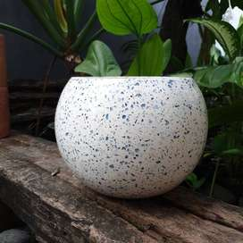 Pot Marble glass Bola medium