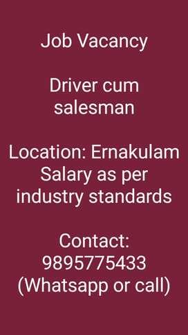 Driver cum salesman