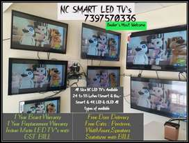 Indian Made NC LED TV's SMART & Non- SMART with GST BILL Free Delivery