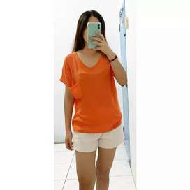Orange vneck top