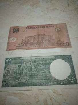 uang kertas dan koin