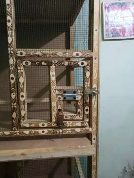WOODEN CAGE. NEW BRAND 3POTION CAGE