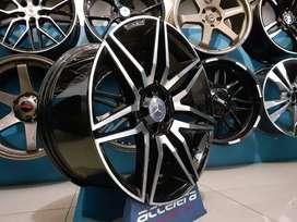 Velg Double Spoke 19x8.5-9.5 5x112 Black Machine Face1 Audi Mercedes M
