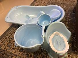 Baby bath set of five