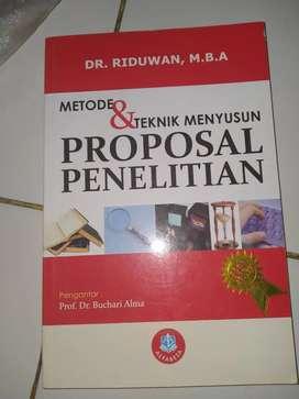Buku metode & teknik menyusun proposal penelitian