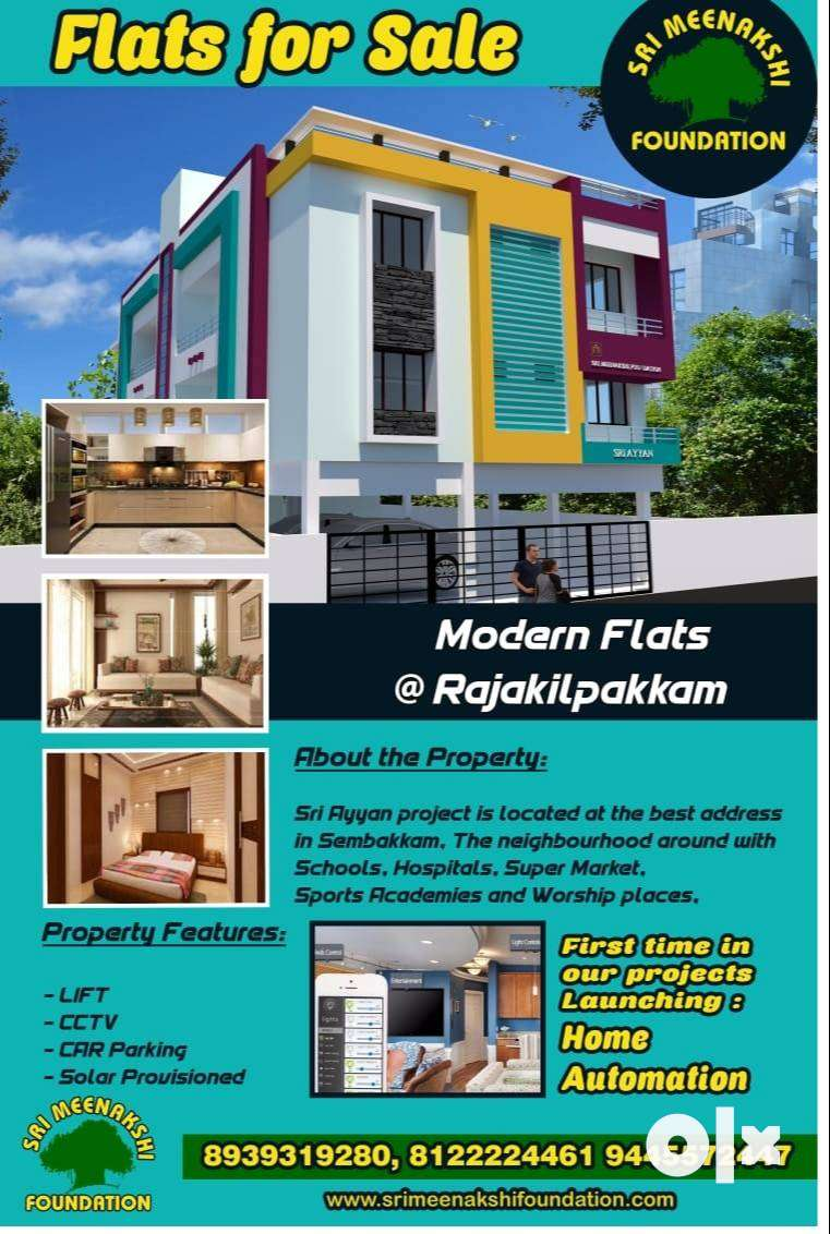 (Cost Includes EB,CCP,Lift)2BHK App. New Flats - Sale in Rajakilpakkam 0