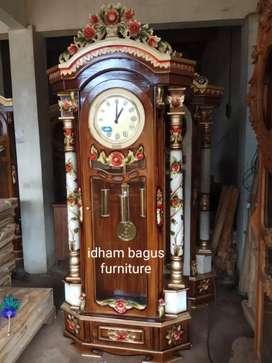 Lemari jam berdiri ,kayu jati